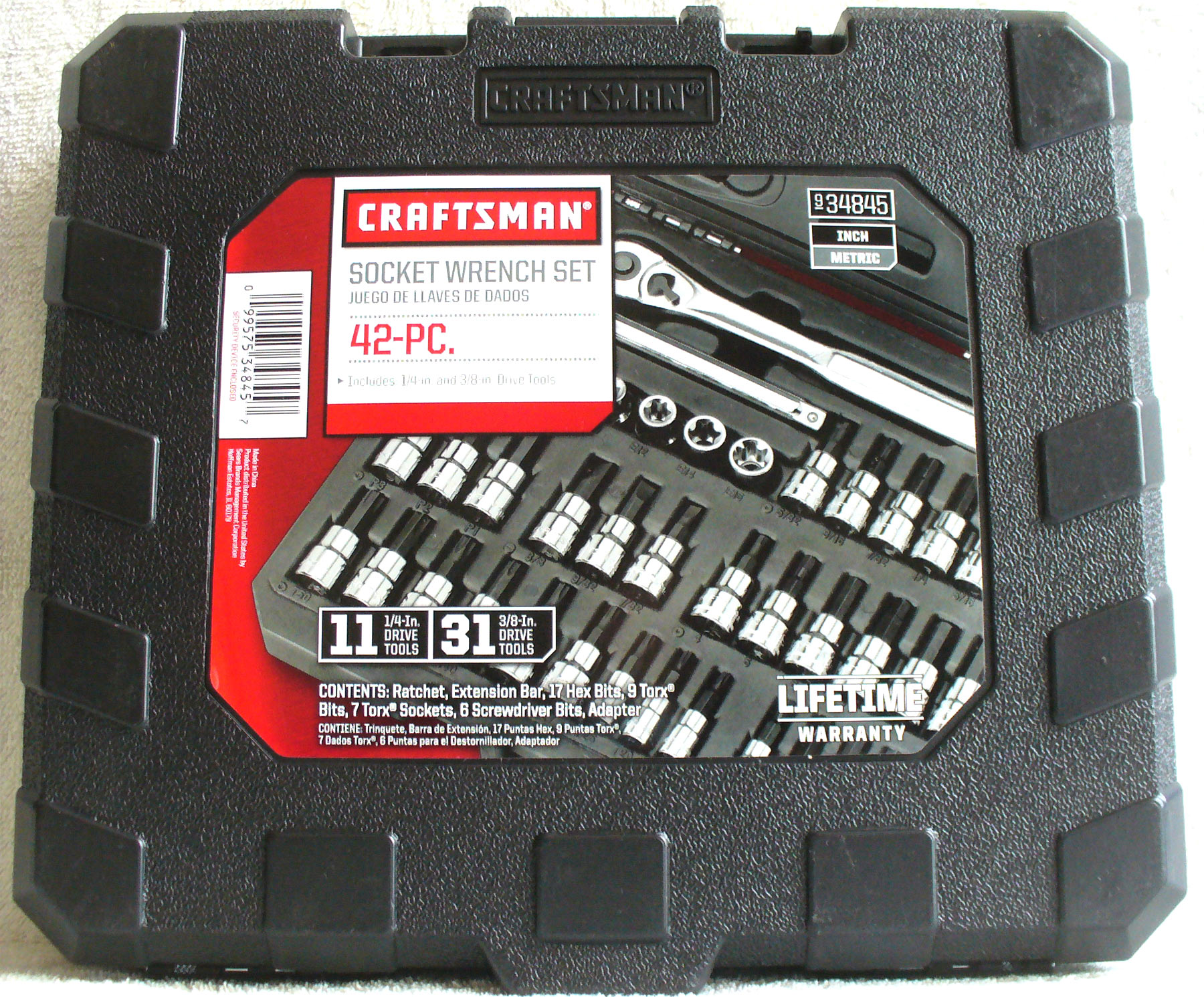 48c7f6ffeb1 Craftsman 42 piece 1 4 and 3 8-inch Drive Bit Torx Bit Socket Wrench Set  11-1 4