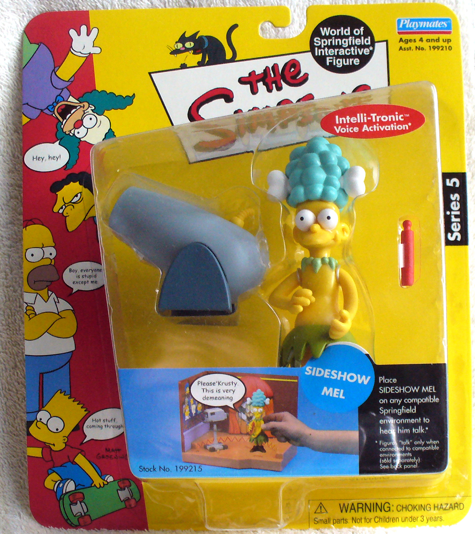 NEW 2001 Playmates Series 5 Simpsons Sideshow Mel Intellitronic Figure