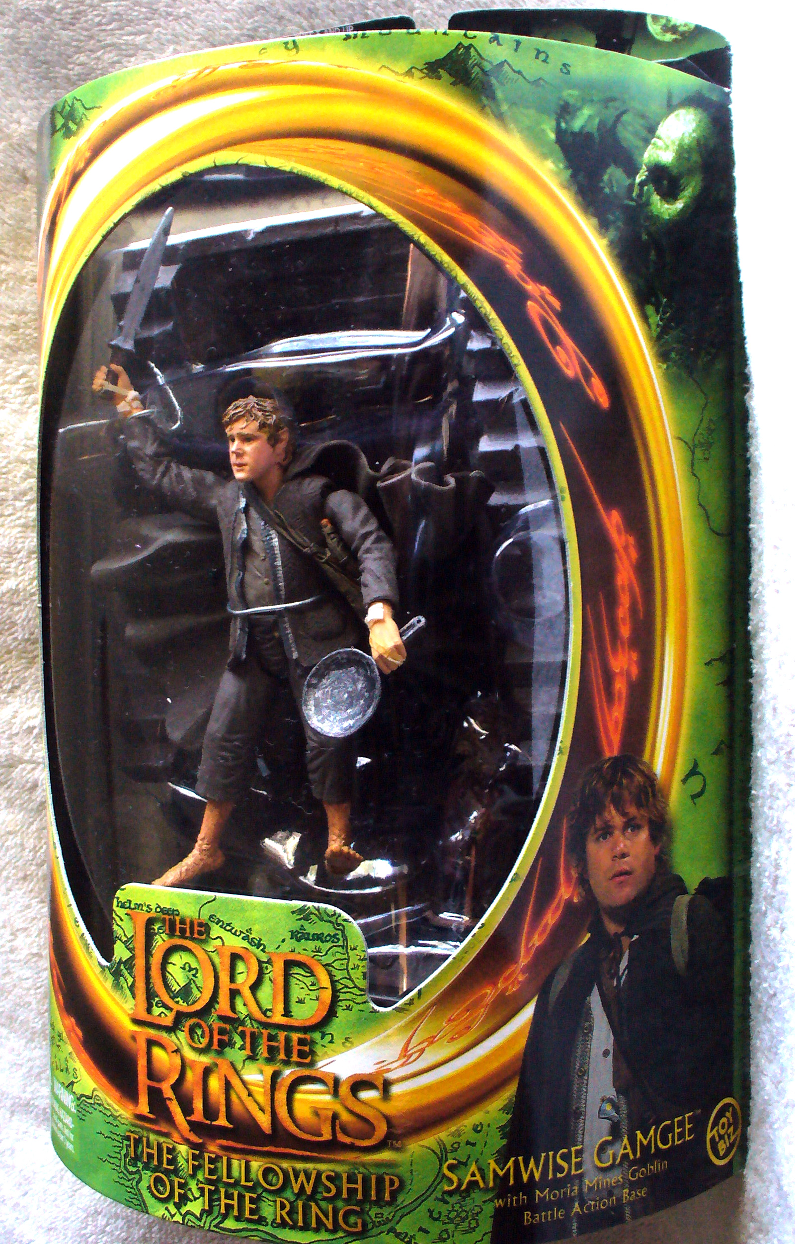 Toybiz Lord Of The Rings Fellowship Of The Ring Samwise Gamgee Figure 6 New Ebay